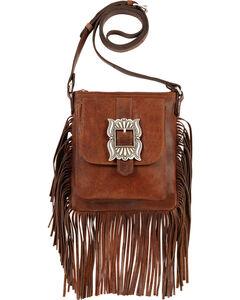 American West Eagle Tobacco Brown Crossbody Bag , , hi-res