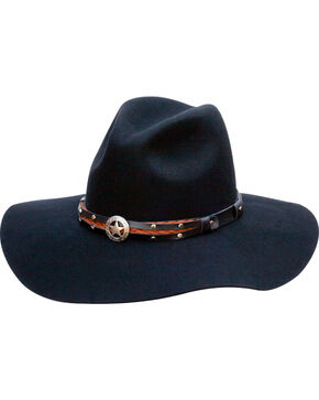Black Creek Women's Jane Western Hat , Black, hi-res