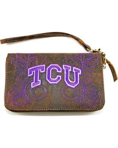 Gameday Boots Texas Christian University Leather Wristlet, , hi-res