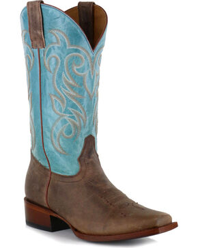 Shyanne Women's Volcano Western Boots - Square Toe, Brown, hi-res