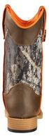 Double Barrel Boys' Buckshot Cowboy Boots - Square Toe, Camouflage, hi-res