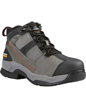 Ariat Men's Grey Contender Work Boots - Steel Toe , Grey, hi-res