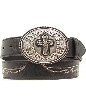 Ariat Cross Concho Wings Belt, Black, hi-res