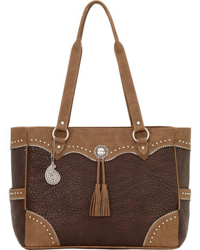 Bandana by American West Breckenridge Collection Carry On Tote, Chocolate, hi-res