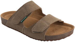 Eastland Women's Khaki Celeste Double Strap Slide Sandals, Tan, hi-res