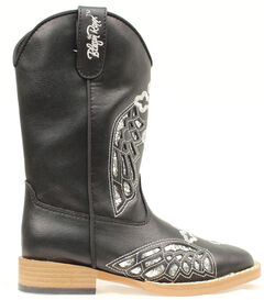 Blazin Roxx Girls' Youth Gracie Wings and Cross Inlay Boots, , hi-res