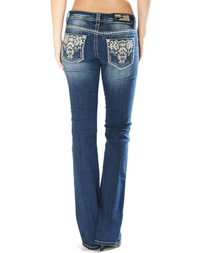 Grace in La Women's Tribal Embellishment Jeans - Boot Cut , Indigo, hi-res