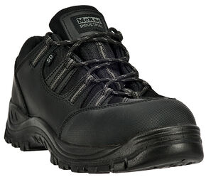 McRae Men's Low Cut Hiker Boots - Composite Toe, Black, hi-res