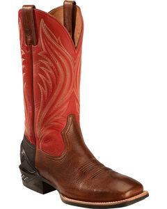 Ariat Mocha Catalyst Prime Cowboy Boots - Square Toe, , hi-res