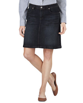Dickies Denim Skirt, Dark Denim, hi-res