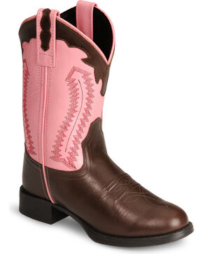 Old West Children's Ultra Flex Cowgirl Boots, Brown, hi-res
