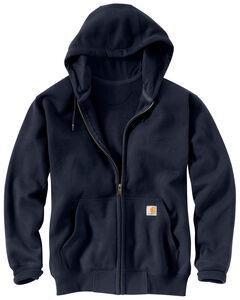 Carhartt Rain Defender Paxton Zip Front Hooded Sweatshirt - Big & Tall, , hi-res