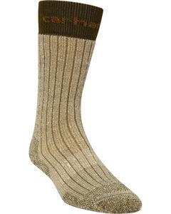 Carhartt Brown Steel Toe Arctic Wool Boot Socks, , hi-res