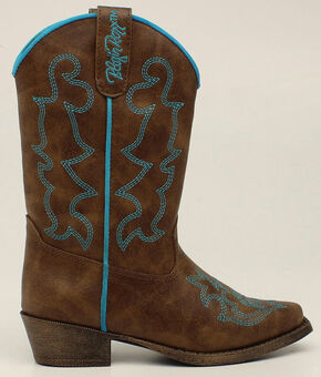 Blazin Roxx Youth Girls' Caroline Boots - Snip Toe, Brown, hi-res