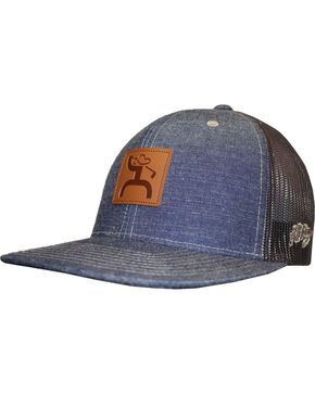 Hooey Men's Eagle Golf Trucker Cap , Blue, hi-res
