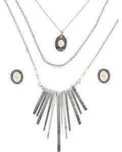 Shyanne Women's Aztec Inspired Waterfall Jewelry Set , , hi-res