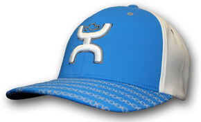 HOOey Youth Boys' Blue Solo III FlexFit Hat , Blue, hi-res