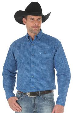 Wrangler 20X Men's Blue Advanced Comfort Competition Shirt - Big & Tall, , hi-res