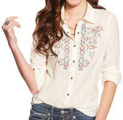 Ariat Women's Ivory Hatch Western Shirt , , hi-res