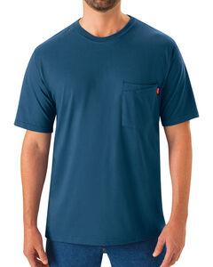 Red Kap Men's Enamel Blue Solid T-Shirt , , hi-res