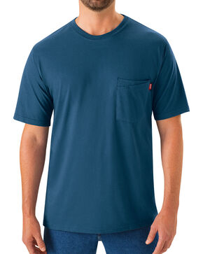 Red Kap Men's Enamel Blue Solid T-Shirt , Blue, hi-res