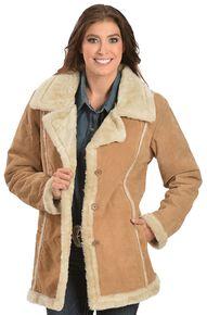 Suede Coat Womens