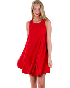 Others Follow Women's Red Laurel Canyon Tunic Dress, , hi-res
