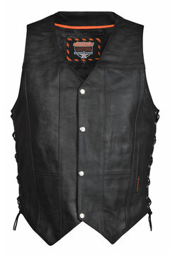 Interstate Leather Men's Justice Vest, , hi-res