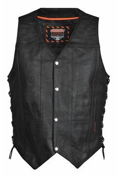 Interstate Leather Men's Justice Vest - 2XL-3XL, , hi-res
