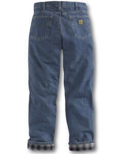 Carhartt Relaxed Fit Flannel Lined Straight Leg Jeans, , hi-res