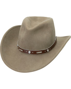 "Silverado Women's Crushable Wool 3 1/4"" Bendable Brim Hat, Putty, hi-res"