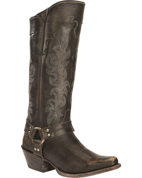 Frye Lily Harness Tall Boots - Square Toe, Black, hi-res