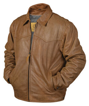 STS Ranchwear Men's Vegas Buckskin Leather Jacket - Big & Tall - 2XL-3XL, Buckskin, hi-res