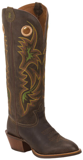 Tony Lama Men's Chocolate Lockhart 3R Buckaroo Boots - Round Toe, Dark Brown, hi-res
