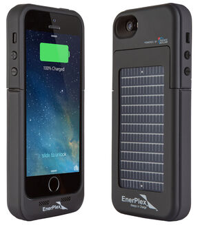 EnerPlex Surfr Solar Battery Case - iPhone 5/5S Black, Black, hi-res