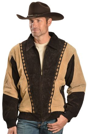 Vintage Leather Men's  Arena Jacket, Brown, hi-res
