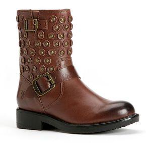 Frye Girls' Jenna Disc Short Boots, Brown, hi-res