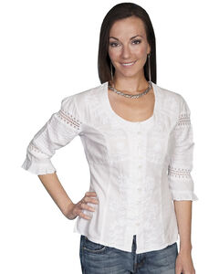Scully 3/4 Length Sleeve Soutache Top, , hi-res