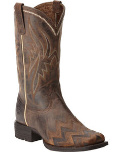 Ariat On Point Sassy Brown Boots - Square Toe, , hi-res