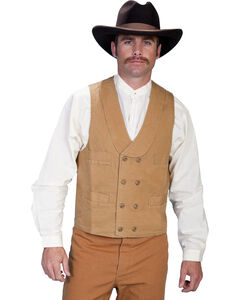 Rangewear by Scully Cotton Canvas Double Breasted Vest - Big & Tall, , hi-res