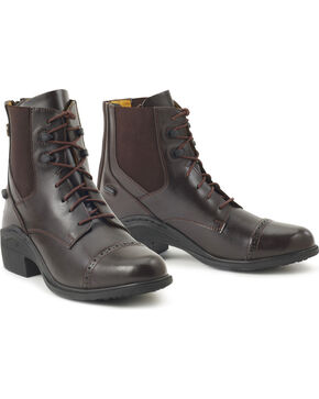 Ovation Women's Synergy Back Zip Paddock Boots, Brown, hi-res