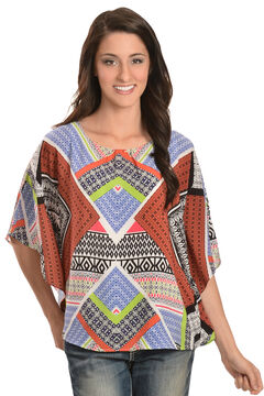 Red Ranch Women's Mixed Print Tunic, , hi-res
