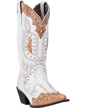 Laredo Women's Presley Western Boots - Snip Toe , Natural, hi-res