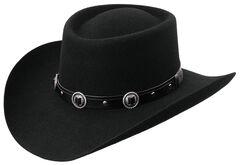 Master Hatters Men's Austin Cool Hondo 3X Wool Felt Gambler Hat, , hi-res