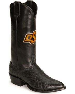 Nocona Oklahoma State University College Boots, Black, hi-res