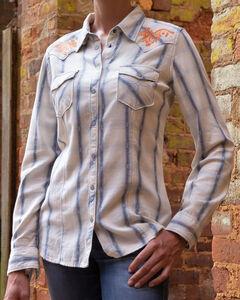 Ryan Michael Women's Rope Stitch Plaid Shirt, , hi-res