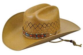 Bailey Western Men's Loaner Straw Cowboy Hat, Putty, hi-res