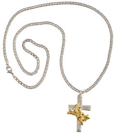 Montana Silversmiths Bullrider Cross Necklace, , hi-res