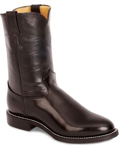 Justin Melo-Veal Leather Roper Boots - Round Toe, , hi-res