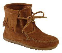 Minnetonka Girls' Ankle Tramper Moccasin Boots, , hi-res